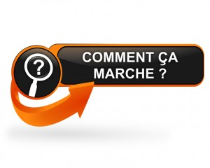 comment ça marche sur bouton web design orange